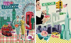 affiche Londres, New York Emilie Capman ©Nouvelles Images