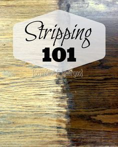 Stripping Furniture 101 {Sawdust and Embryos}