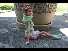 Как сшить одежду для куклы из носка Barbie, Monster High, Ever After high - YouTube