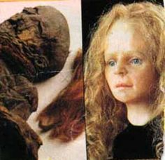 Yde Girl is a bog body found in the Stijfveen peat bog near the little village of Yde in the Netherlands. She was found on 12 May 1897 and was reputedly uncannily well-preserved when discovered (especially her hair), but by the time the body was turned over to the authorities a fortnight later it had been severely damaged and deteriorated.   Carbon 14 tests have indicated that Yde girl died between 54 BC and 128 AD at an approximate age of 16 years. She had long reddish blonde hair.