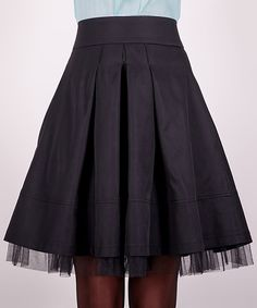 Love this ZEAN Black Ruffle A-Line Skirt by ZEAN on  zulily!   5553d80171d