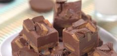 Peanut Butter Cup Fudge ~ Oh, yes, I want some of that. Just 3 ingredients makes it super easy to prepare.
