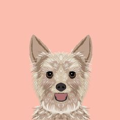 """East Urban Home Yorkshire Terrier by Pet Friendly Graphic Art on Wrapped Canvas Size: 18"""" H x 18"""" W x 0.75"""" D"""