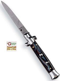 COLTELLO A SCATTO MANICO FINTO CORNO CM. 22 https://www.chiaradecaria.it/it/coltelli-a-scatto/4263-coltello-a-scatto-manico-finto-corno-cm-22-8027959088578.html