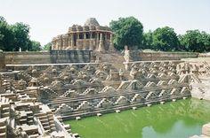 Sun Temple, Modhera, Gujarat. Built in 1026 by King Bhimdev of the Solanki Dynasty.