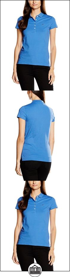 Tommy Hilfiger New Chiara Str Pq Polo Ss, Polo Para Mujer, Azul (Bright Cobalt 381), XL  ✿ Blusas y camisas ✿