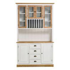 k chenschrank kommode schrank holz wei landhaus buffetschrank glast ren neu im elbm bel online. Black Bedroom Furniture Sets. Home Design Ideas