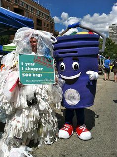 1 year, 1 shopper, 500 bags, you? @ChicoBag Plastic Bag Monster & Curby at Clean Air Council's 2012 Greenfest!