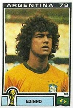 Edinho of Brazil. 1978 World Cup Finals card.