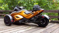 Can-Am Spyder, futuristic design, motorbike, motorcycle-------When I am 42