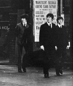 John Lennon, George Harrison & Ringo Starr - A Hard Day's Night set.