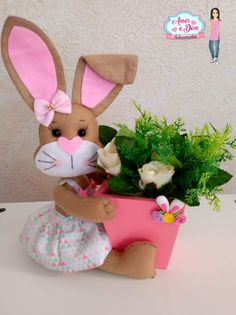 Sewing Crafts, Sewing Projects, Projects To Try, Bunny Crafts, Easter Crafts, Diy And Crafts, Arts And Crafts, Bunny Art, Baby Shower