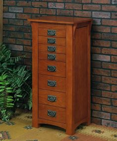 Mission Oak Jewelry Armoire on Sale at JewelryBoxPlus.com