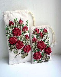 Beautiful ribbon roses by Марина Завгородняя