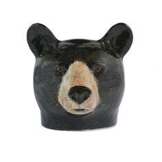 Quail Ceramics Black Bear Egg Cup - Trouva