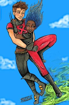 Iko and Kinney as Hellion and X-23 for tlc ship weeks day 6: Superheroes by Julie Crowell