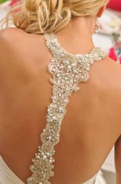 Such a beautiful back on the Maggie Sottero Reese