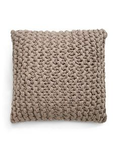 Giant Knit Alpaca Link Pillow: 80% baby alpaca/20% wool. Also available in ivory. #Pillow #Alpaca #Giant_Knit