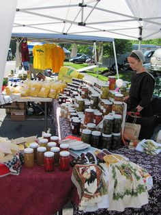 Fresh Amish preserves at the Lititz Farmers' Market, Lancaster County, PA www.whereandwhen.com