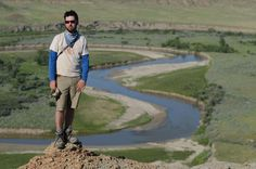 ROM paleontologist David Evans on a dino dig in southern Alberta. The Badlands.