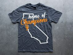 SF Giants Home of Champions Tee- Men's and Womens