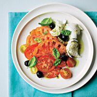 Ensalada de 'mozzarella' y tomate