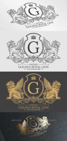Golden Royal Lion Vol.1 — Vector EPS #club #website • Available here → https://graphicriver.net/item/golden-royal-lion-vol1/9864189?ref=pxcr