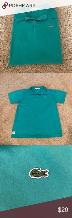 Boys Lacoste Polo Cute polo by Lacoste for boys size 16. Classic collared polo with the signature alligator logo. This runs small....actual size is a 14. Lacoste Shirts & Tops Polos