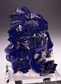 Azurite from Milpillas Mine, Cuitaca, Mun. Minerals And Gemstones, Crystals Minerals, Rocks And Minerals, Crystals And Gemstones, Stones And Crystals, Natural Gemstones, Gem Stones, Vida Natural, Raw Gemstone Jewelry