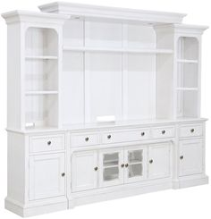 Get Magnussen Home's Laurel Garden Soft White Entertainment Wall with a price match guarantee from Coleman Furniture. Living Room Entertainment Center, Home Entertainment, White Entertainment Centers, Entertainment Products, Old Kitchen Tables, Bookcase Wall, Bookshelves, Coaster Furniture, Furniture Nyc