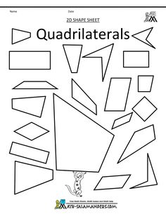 Table Below Shows The Types Of Quadrilaterals And Their