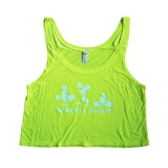 Crop It Like It's Hot Tank - Neon Yellow