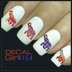 Elephant Nail Art Decals 32 Elephant Nail Decals by DecalGirlUSA, $3.85