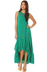 Free People The Long Crochet Dress With Tiers in Emerald Combo #MissKL #MissKLCoachella #Coachella