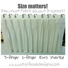 Image result for fullness pleat spacing