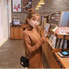 Calmest Dreams Knit Dress - I know you wanna kiss me. Thank you for visiting CHUU. Korean Haircut, Korean Short Hair, Pretty Korean Girls, Cute Korean, Korean Outfits, Retro Outfits, Brown Hair Balayage, Aesthetic People, Hair Growth Oil