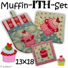 Muffin - ITH - Set Embroidery 13x18 - ginihouse3
