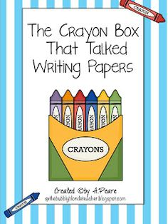 The Bubbly Blonde: The Crayon Box That Talked Freebie Writing Papers