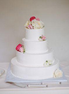 Dotted cake: http://www.stylemepretty.com/new-jersey-weddings/princeton/2015/07/24/romantic-elegant-princeton-university-wedding/ | Photography: Rebecca Yale - http://rebeccayalephotography.com/