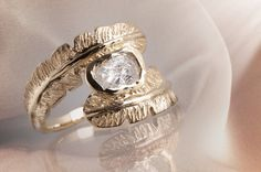 Feathered Ring. $1,900.00, via Etsy.