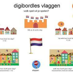 Een digibordles geschikt bij het thema feest of Koningsdag met zes verschillende spellen en doelen. Zo worden er aan de hand van huizen en v... Kings Day, Holland, Preschool, Van, Classroom, Kids Rugs, Education, World, Learning