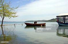 Sakarya, Turkey - April 11, 2015: An old fisherman is getting... #sapanca: Sakarya, Turkey - April 11, 2015: An old fisherman is… #sapanca