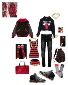 """How to wear Jordan's"" by loveso on Polyvore featuring Dolce&Gabbana, Louis Vuitton, Opening Ceremony, Salvatore Ferragamo, Retrò, Casetify, David Yurman, H.I.P. and Brooks Brothers"
