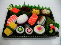 Oh yes. My 3 loves all in one picture= #sushi, #crochet and #amigurumi