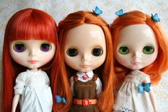 redheads with butterflies