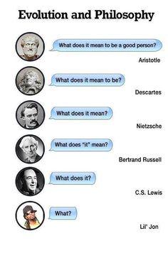 Evolución, a la baja, de la filosofía