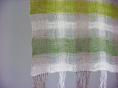X handwoven linen, spaced warp, plain weave Weaving Designs, Weaving Projects, Loom Weaving, Hand Weaving, Types Of Weaving, Weaving Textiles, Tear, Sewing Studio, Woven Wall Hanging