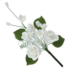 Rose Premium Spray, Small, White, 12 Count by Chef Alan Tetreault Sugar Flowers by Chef Alan Tetreault