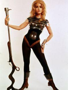 Jane-Fonda-Wearing-Space-Age-Costume-Roger-Vadim