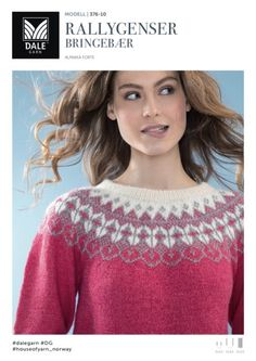 no - dale-rallygenser-bringebær Pattern Library, Knitting Designs, Sweater Fashion, Christmas Sweaters, Knitwear, Knit Crochet, Fancy, Sewing, Color